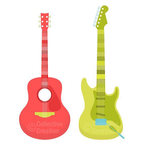 Pics Of Guitars Clipart