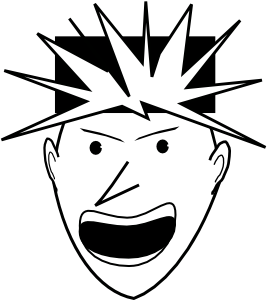 267x300 Angry Punk Clip Art