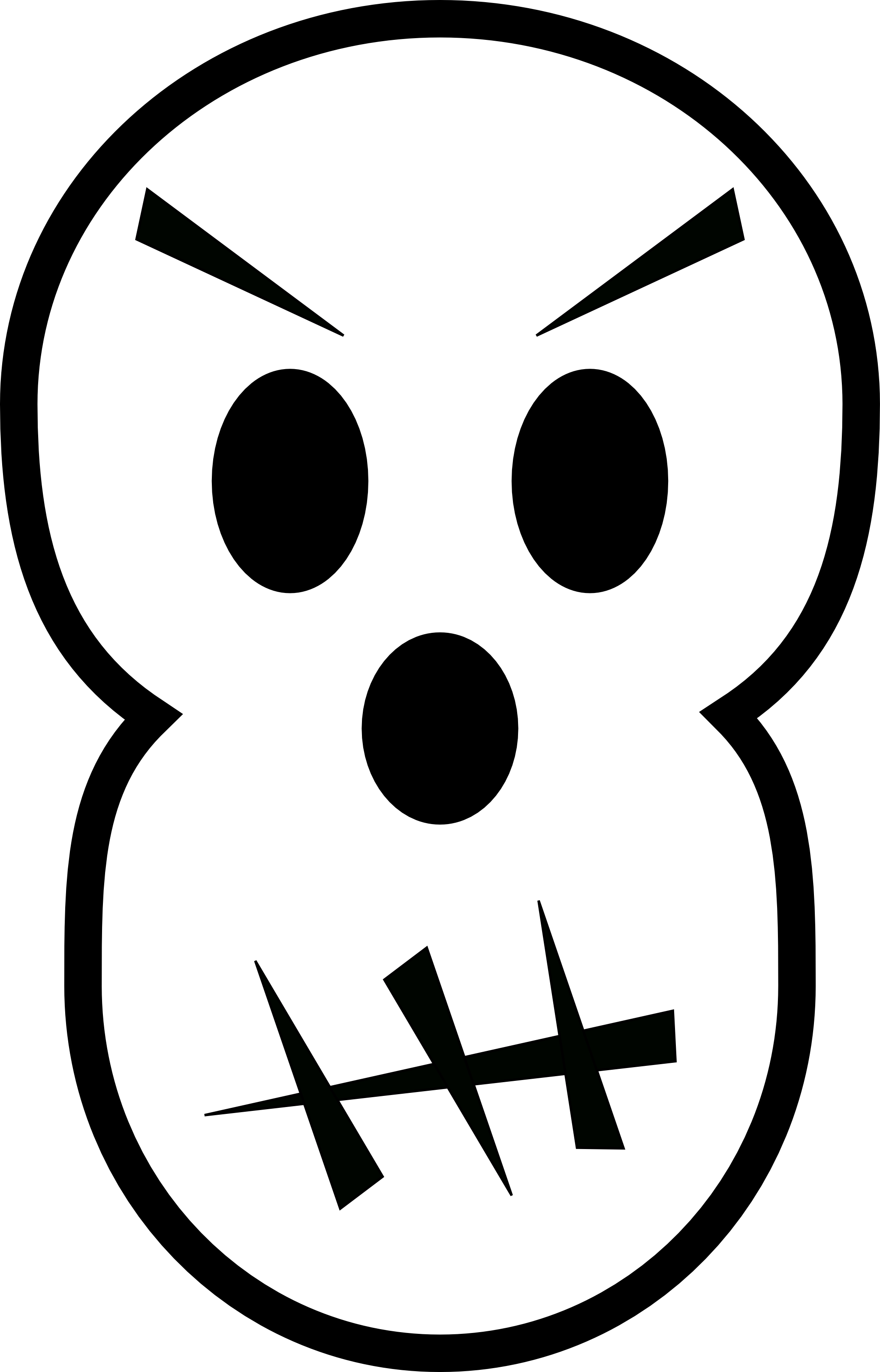 2052x3200 Ghostly Clipart Mad