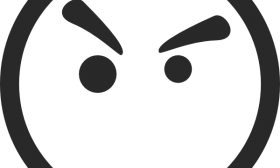 280x168 Angry Face Clipart