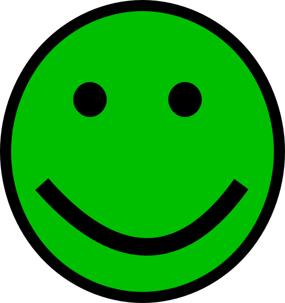 564x601 Green Smiley Face Clip Art
