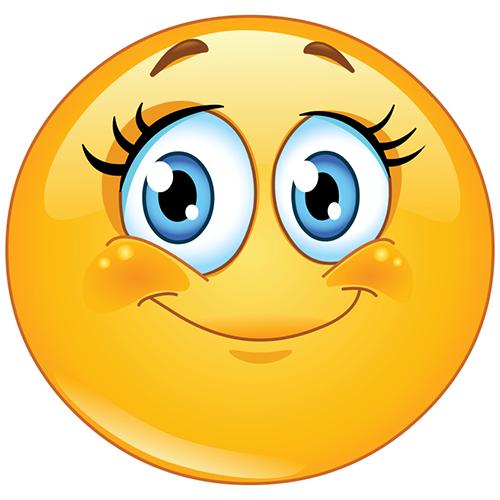 500x500 Girl Smiley Face Symbols Amp Emoticons