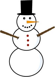 211x296 Snowman Clipart