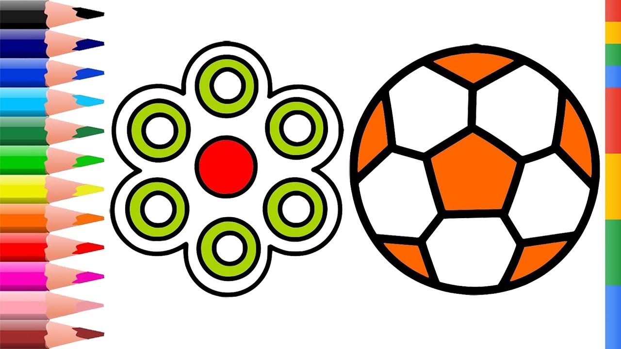 1280x720 How To Draw Soccer Ball And Fidget Spinners Soccer Ball