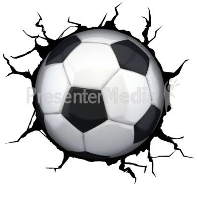 400x400 Crack Wall Soccerball