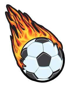 240x300 Flaming Soccer Ball Clipart