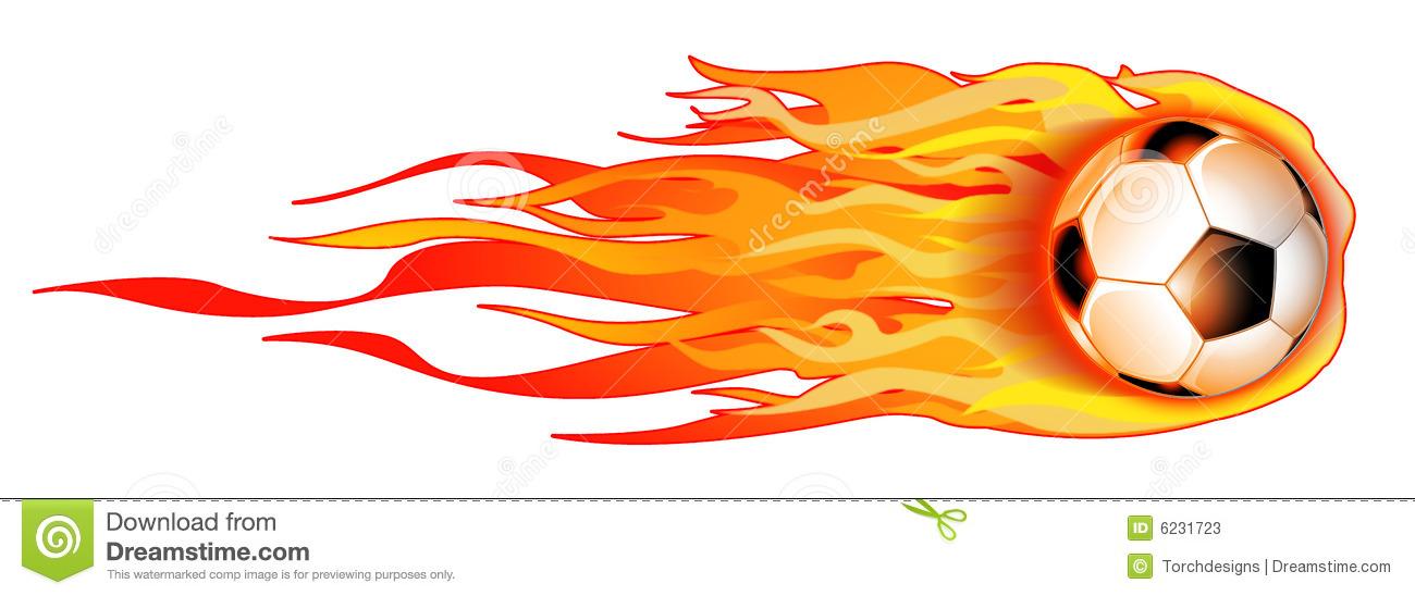 1300x548 Flaming Soccer Ball Clipart