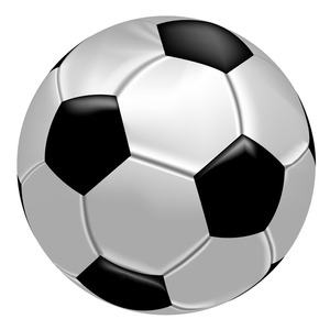 300x300 Realistic Soccer Ball Vector