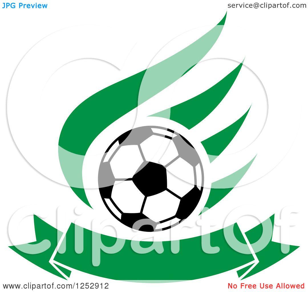 1080x1024 Royalty Free (RF) Flying Soccer Ball Clipart, Illustrations