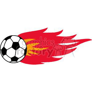 300x300 Royalty Free 2555 Royalty Free Flaming Soccer Ball 379985 vector