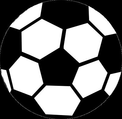 400x391 Soccer Ball Outline Clip Art