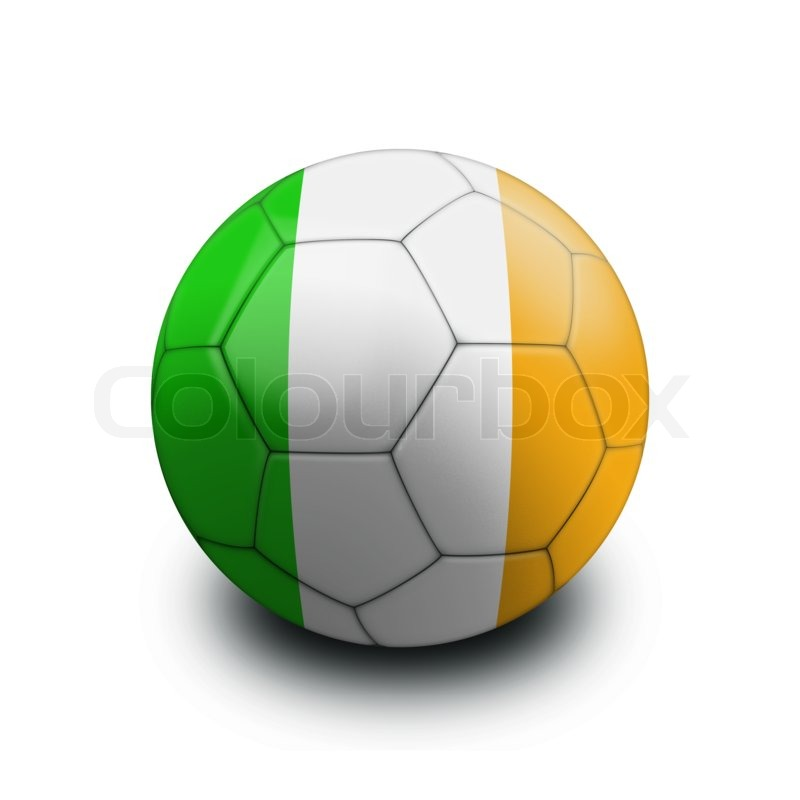 800x800 Sports Soccer Ball Flag Ireland Stock Photo Colourbox