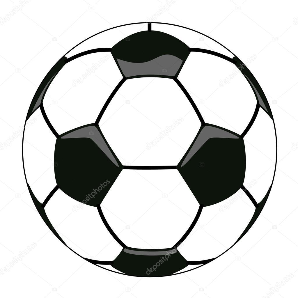 1024x1024 Vector soccer ball clipart — Stock Vector © dmstudio