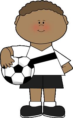 249x400 Boy Holding A Soccer Ball Clip Art