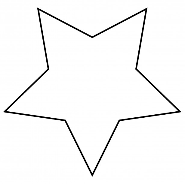 615x613 Star Outline Clipart Free Stock Photo