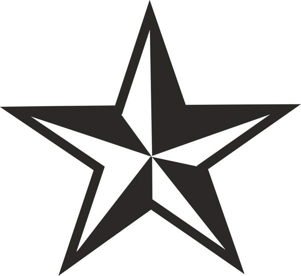 600x550 Star Clipart Free Black And White Collection