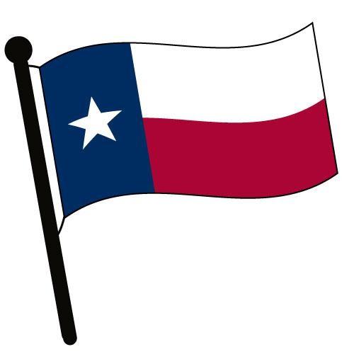 500x500 Texas Waving Flag Clip Art