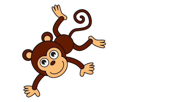 662x400 How To Draw A Cartoon Monkey In A Few Easy Steps Easy Drawing Guides