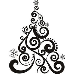 236x236 Christmas Decorations Clipart Black And White Nice Decoration
