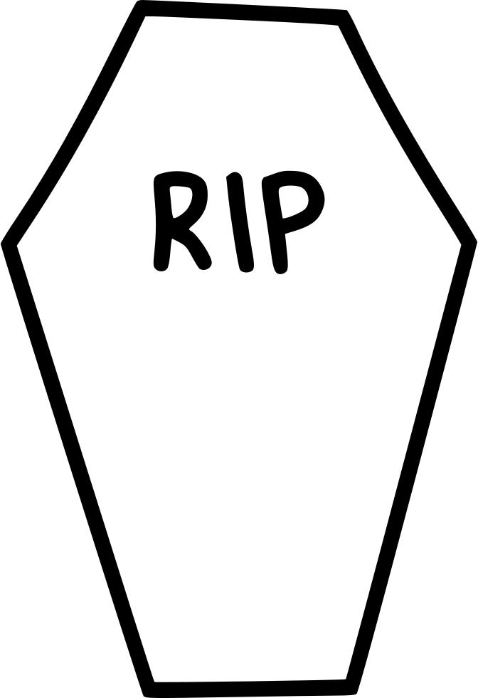 672x980 Coffin Clipart Rip