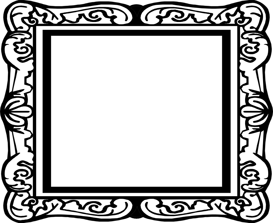 958x782 Blank Picture Frame Clip Art