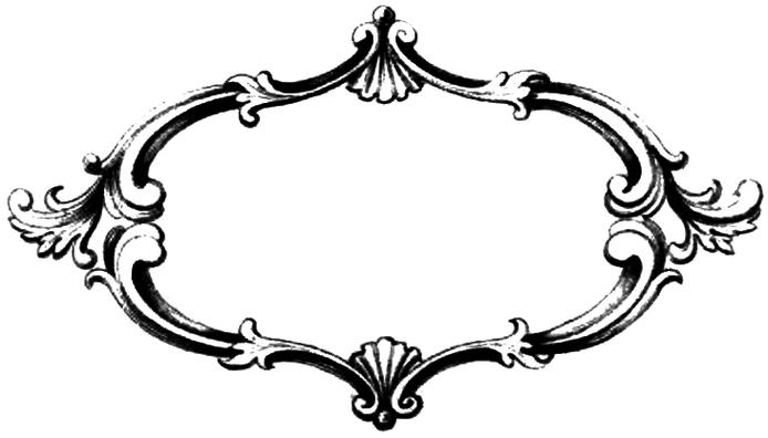 694x396 Elegant Border Frame Clipart