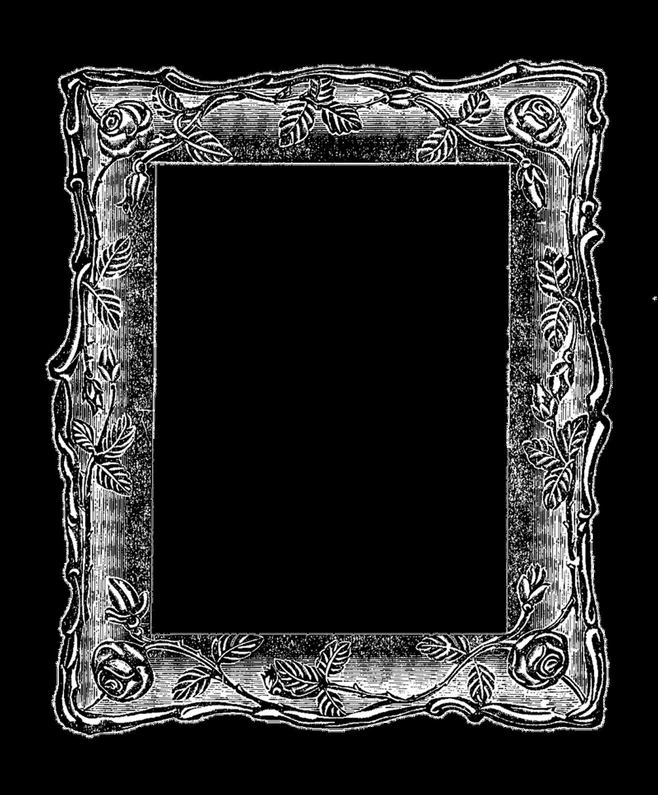 1325x1600 Antique Frame Clipart
