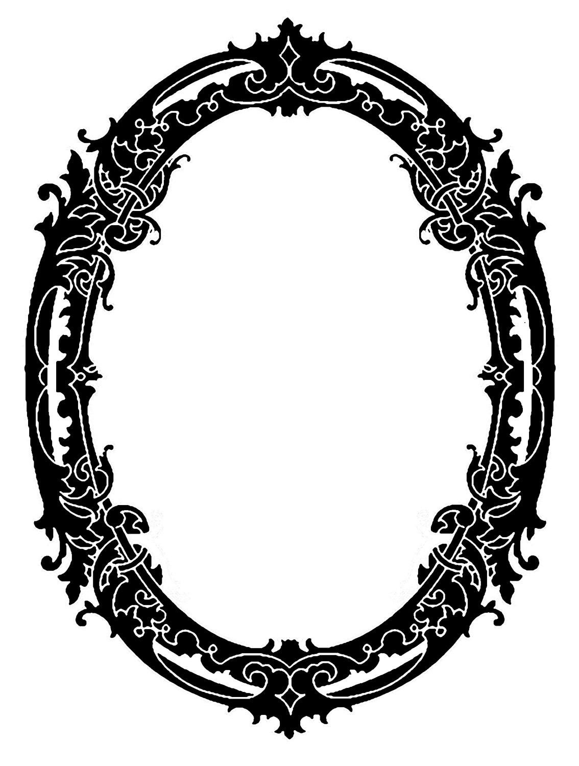 1134x1500 Vintage Clip Art Stunning Silhouette Frames Christmas The For Oval