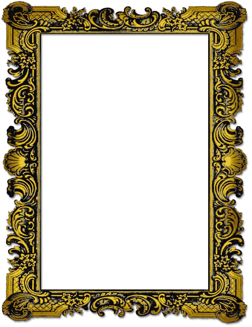 850x1100 Old Picture Frame Page Frames Clipart Images