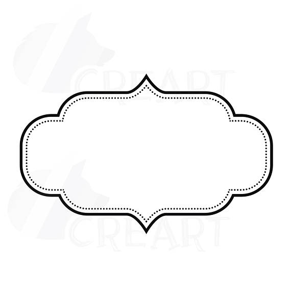 570x570 Digital Frames Borders Clip Art Digital Labels Basic Frames