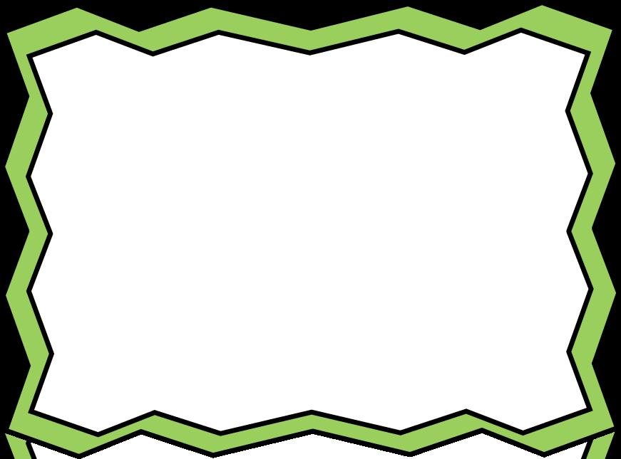 871x645 Green Zig Zag Frame