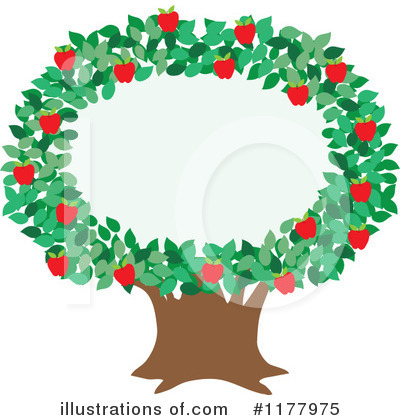 400x420 Apple Orchard Border Clipart
