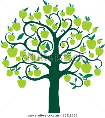 419x470 Green Apple Tree Clipart Letters Example