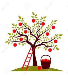236x262 Stock Vector Apple Tree. Pencil , Paint Apples