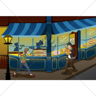 325x325 Buying Cake At Bakery Store Gl Stock Images