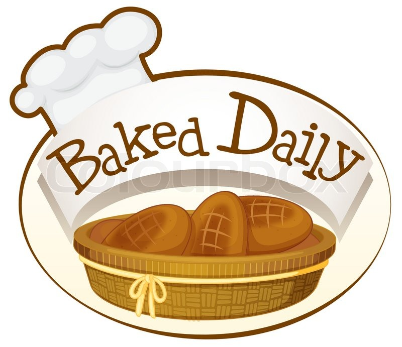 800x691 Illustration Of A Bakery Label On A White Background Stock