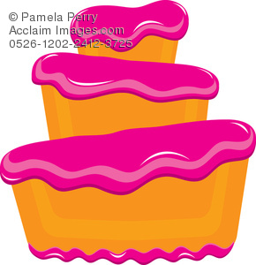 290x300 Art Illustration Of A Bakery Cake With Star Shaped Sprinkles
