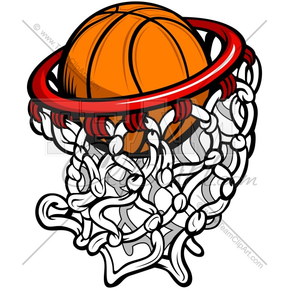 590x590 Basketball Hoop Clipart Image. Easy To Edit Vector Format.