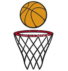 236x248 Basketball Hoop And Ball, Download Royalty Free Vector Clipart
