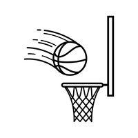 200x200 Basketball Hoop Icon Vector Image