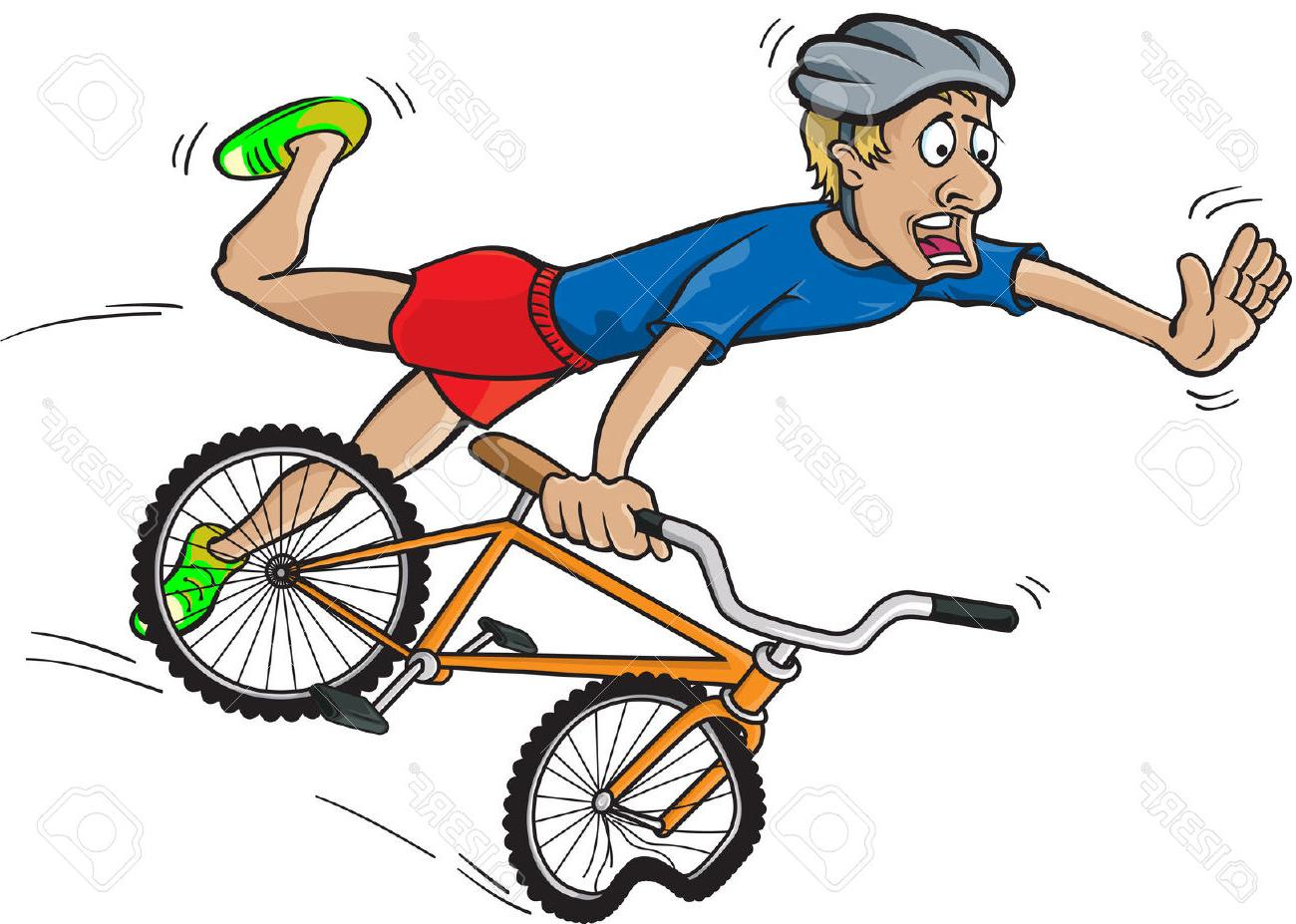 1300x927 Bicycle Clipart Crashed