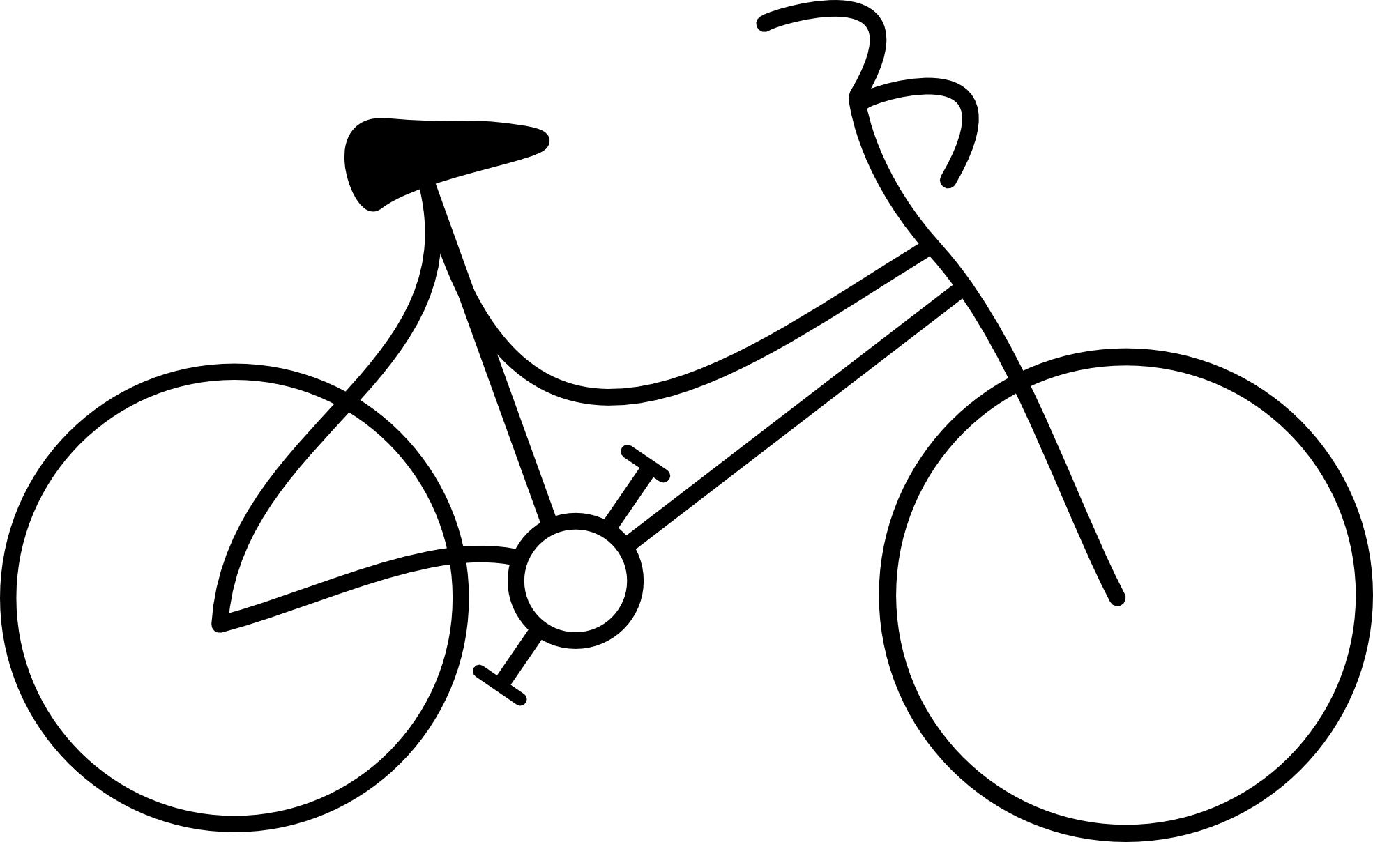 1969x1208 Bicycle Clipart Line Drawing