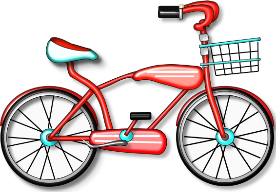 566x395 Bicycle Clipart Basket