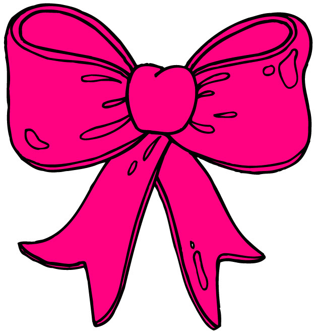 627x664 Pink Bow Clipart