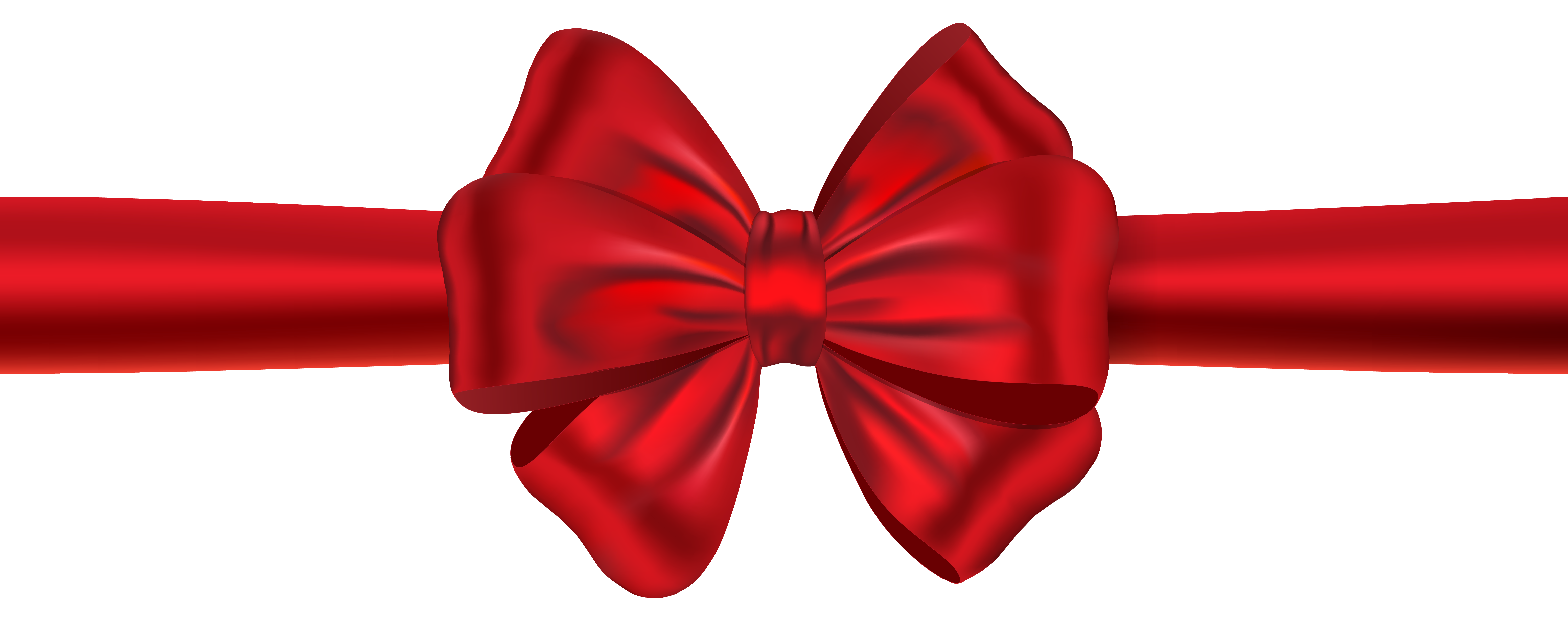 6204x2447 Red Ribbon With Bow Png Clipart Imageu200b Gallery Yopriceville