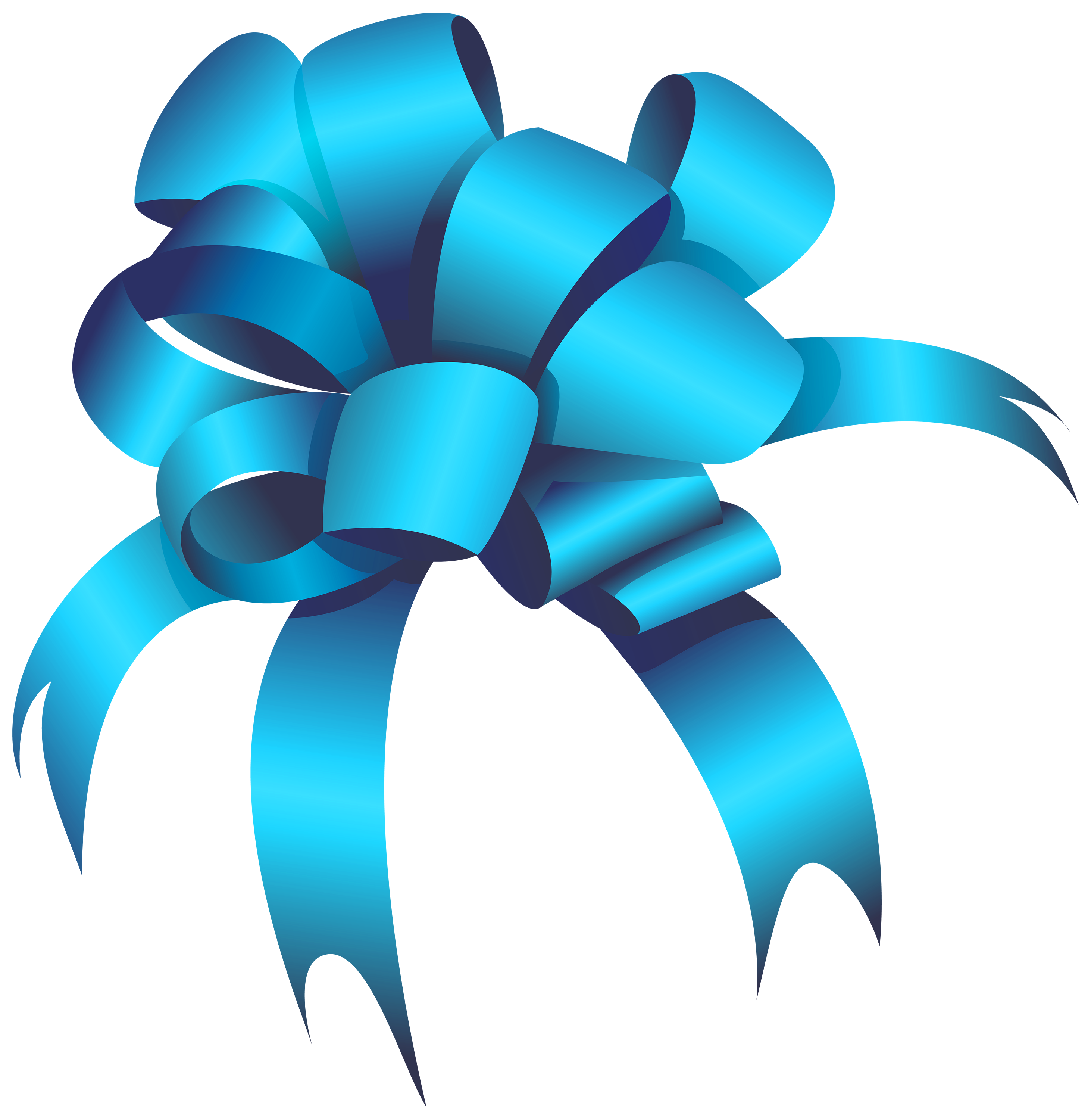 2924x3000 Blue Bow Png Clipart
