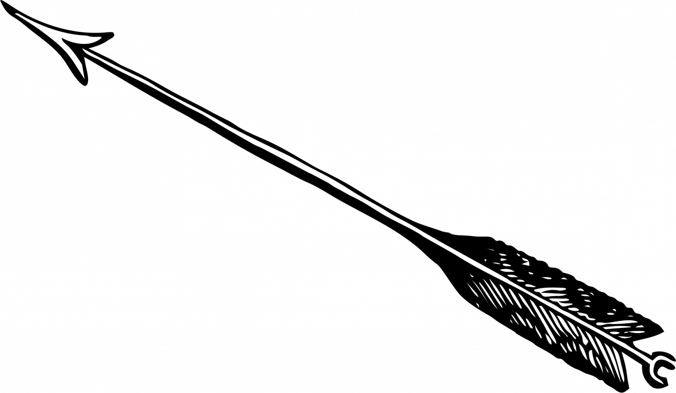 2304x1342 Black Clipart Bow And Arrow