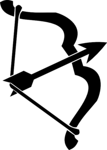 213x299 Bow And Arrow Black Clip Art