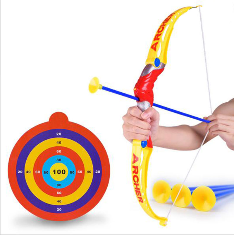800x801 Hot Kids Bow Arrow Outdoor Sport Toy Set Air Storm Fire Curve Bow