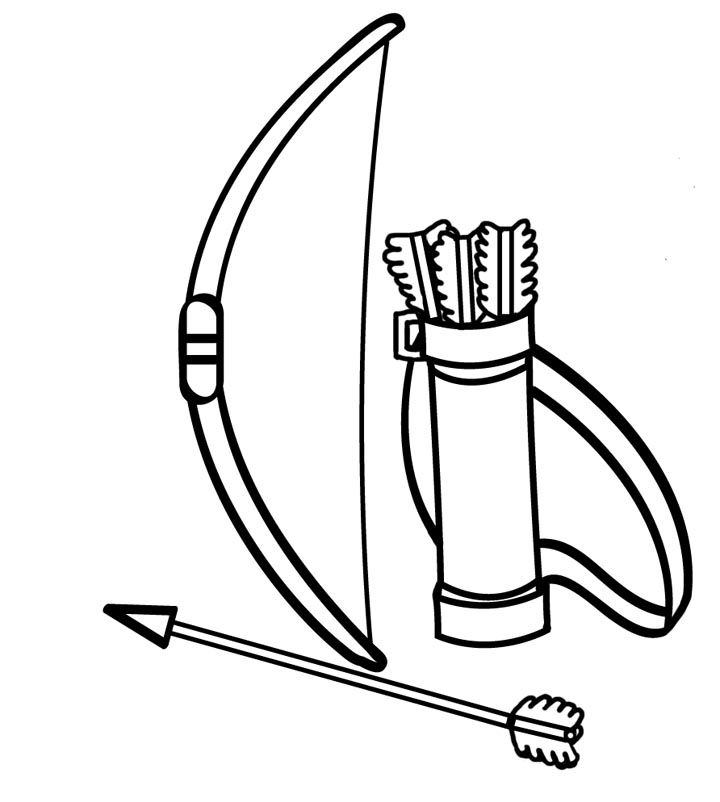720x802 Image Result For Biw And Arrow With Quver Clip Art Trunk